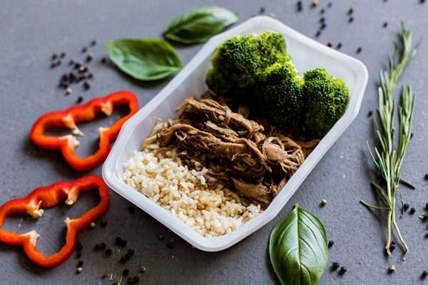 Asian pulled pork with brown rice