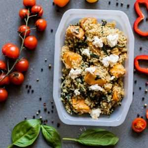 Baked Pumpkin and Spinach Risotto