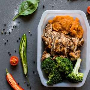 Chicken Breast with Sweet Potato Mash and Seasonal Veg