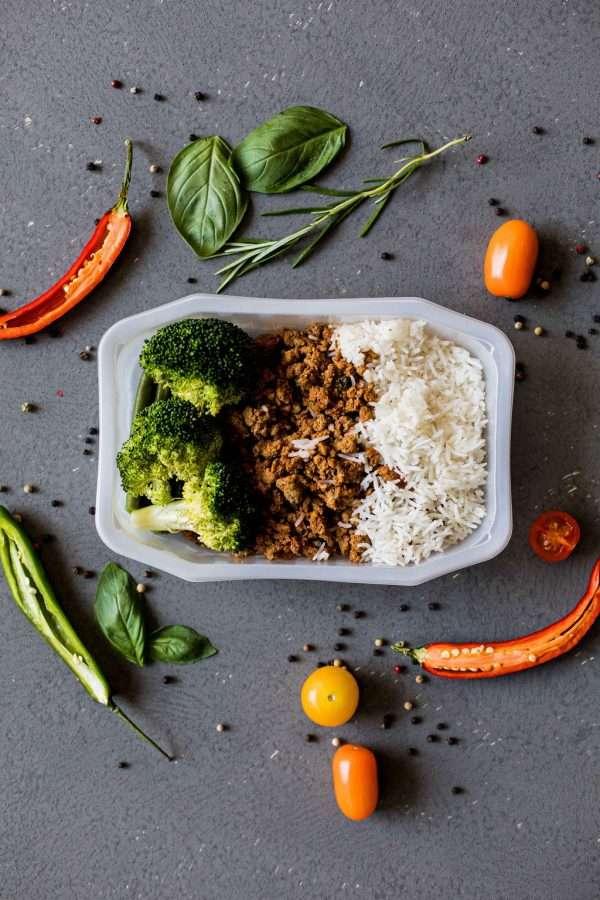 Lean Beef Mince with Basmati Rice and Seasonal Veg
